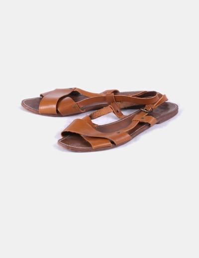 9141d707979 Pull Bear Sandalias cuero marrón (descuento 90%) - Micolet