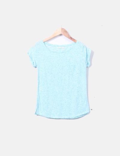Camiseta azul cielo jaspeada