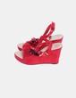 Sandalia roja de antelina  NoName