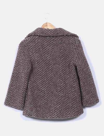 Chaqueta de lana taupe texturizada