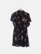 Vestido fluido negro floral Zara