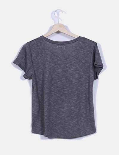 Camiseta gis oversize detalle central