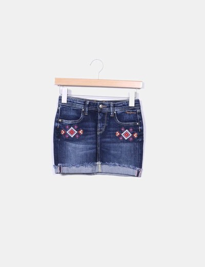 Mini falda étnica Pepe Jeans