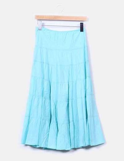 Falda maxi turquesa Zara