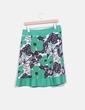 Falda lino verde estampada Lucy Collection