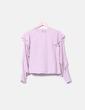 Blusa rosa con volantes Stradivarius