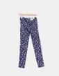Pantalón pitillo con estampado floral Bershka