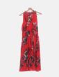 Vestido de gasa rojo estampado Sahoco