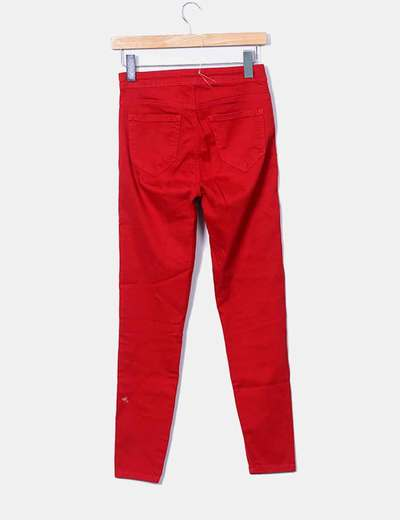 Pantalon pitillo rojo