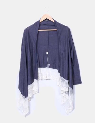 Suéter azul con encaje Thena