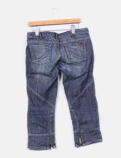 Pantalon pirata denim oscuro