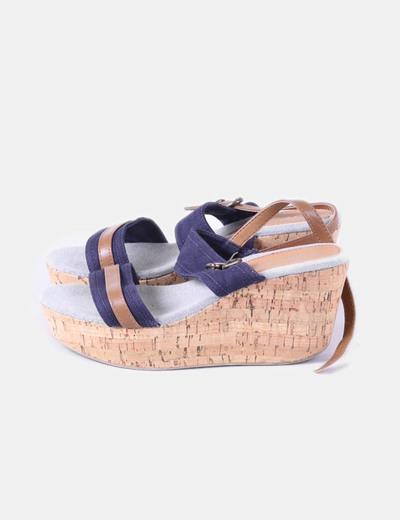 Sandales multi-couleurs deux compensées Zapacasa
