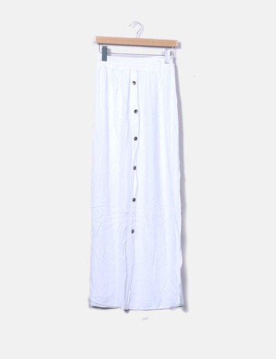 Armonias Falda larga blanca abotonada (descuento 59%) - Micolet 4feb4193d6b