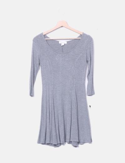 Vestido gris fluido Forever 21