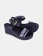 Sandalias plataforma negra Pieces