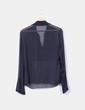 Blusa seda negra con pedrería Massimo Dutti