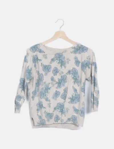Jersey tricot flores