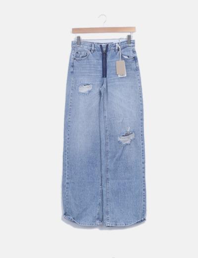 Jeans denim campana ripped