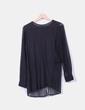 Blusón negro combinado Zara