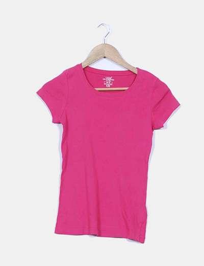 Camiseta básica fucsia H&M