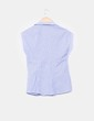 Camisa azul de rayas sin mangas Zara
