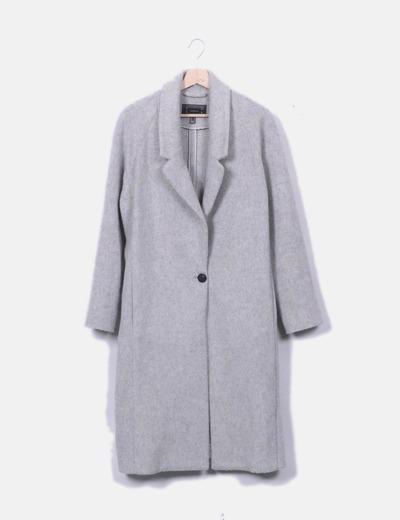 Abrigo largo lana gris