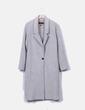 Abrigo largo lana gris Mango