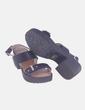 Sandalia negra de tacón Clara's