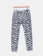 Jeans denim slim fit print cebra Zara
