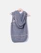 Chaleco de punto combinado gris con capucha Massimo Dutti