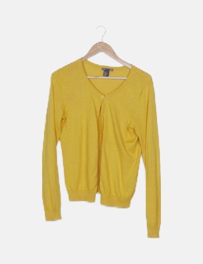 Chaqueta tricot amarillo