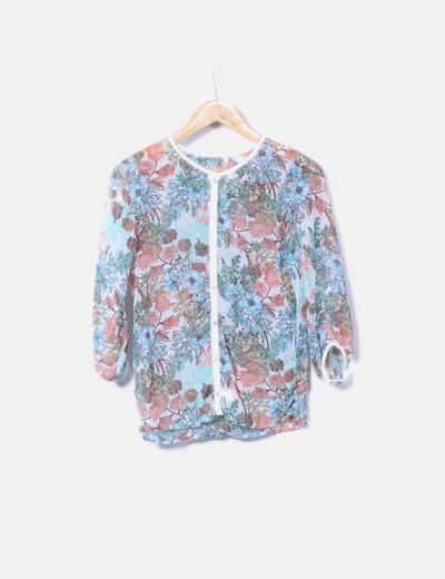 Blusa de gasa floral Pull&Bear