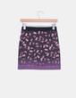 Mini falda elástica estampado floral Zara