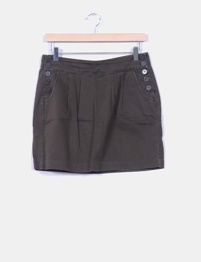 Mini falda caqui botones laterales Springfield