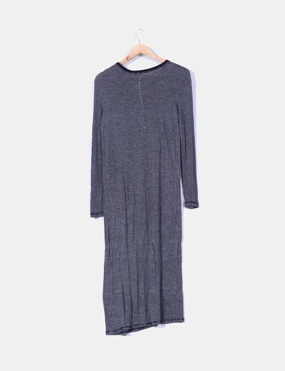 Vestido maxi de rayas