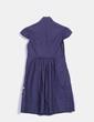 Vestido azul marino con pedrería Hoss Intropia