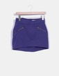 Mini falda azul detalle cremalleras Pull&Bear