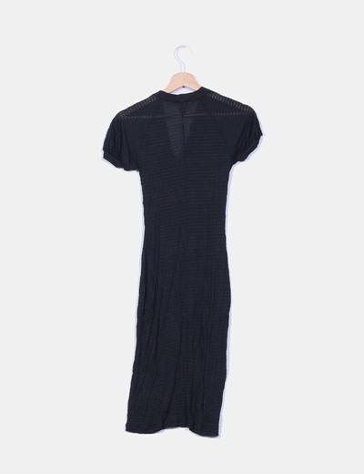 Vestido negro semitransparente