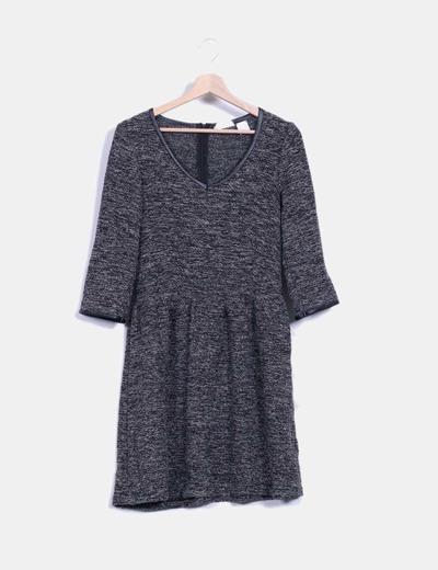 Vestido tricot con brillos Soft Grey