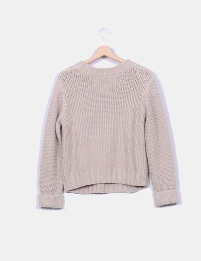 Jersey ochos de lana beige