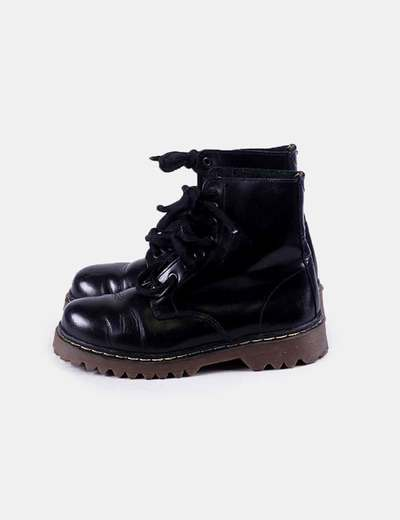 Military black boots with cord NoName