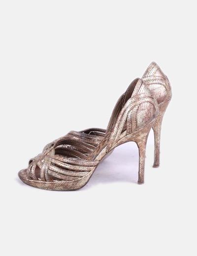 Sandales plate dorées -forme NoName