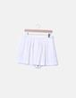 Falda pantalón blanca con vuelo Mango