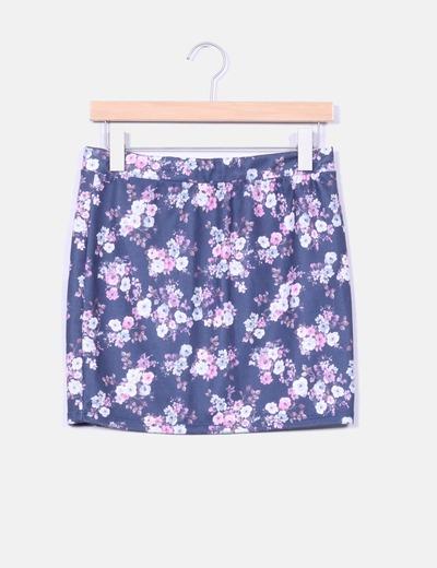Falda mini floral Shana