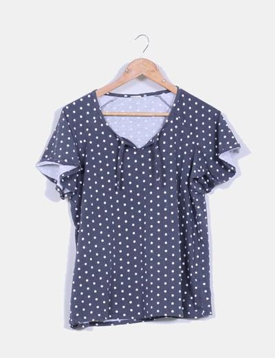 Camiseta gris con topos NoName