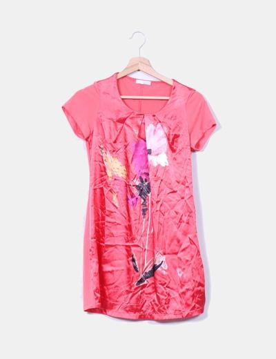 Vestido coral combinado Promod