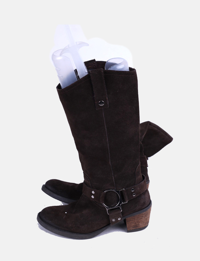 Botas de ante marron chocolate