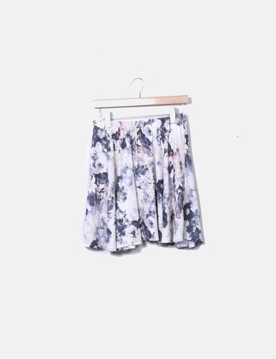 Falda floral con cintura elástica NoName