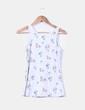 Camiseta gris floreada con puntilla Cosmoda