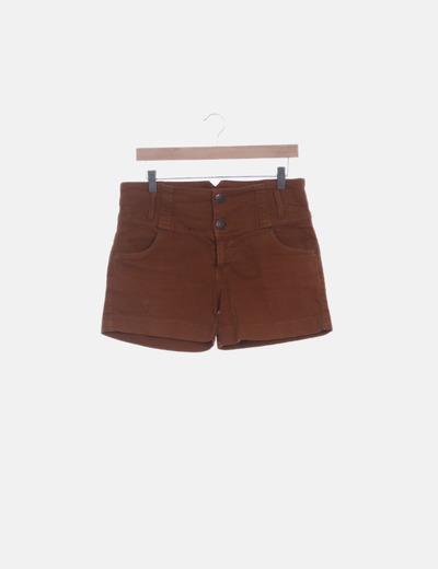 Short denim marrón